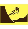 Motorcycle Rider Freeride vector image