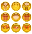Buttons set childhood vector image