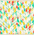 chevron print with colorful stripes and lines vector image