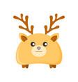 cute deer character animal vector image