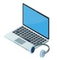 Laptop and headphones vector image