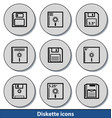 light diskette icons vector image