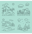 Nature outline landscapes vector image