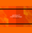 orange abstract backgrounds design vector image