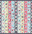 pattern with flowers on strips circles vector image