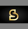 s gold golden letter logo icon design vector image