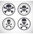 Stamp with skull and crossbones vector image