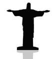 statue of Christ the redeemer in Rio de Janeiro vector image