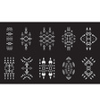 Tribal Elements Set Ethnic Collection Aztec Art vector image