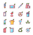 waste rubbish pollution ecology recycling set vector image