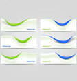 Wavy Business Templates vector image
