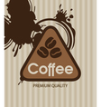 coffee grains vector image vector image
