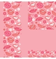 Lips set of seamless pattern backgrounds and vector image vector image