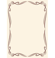 gold frame with ornaments vector image vector image