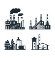 digital black factory pollution vector image