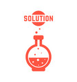 solution with red lab bottle vector image