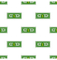 dollars bill seamless pattern on a white vector image