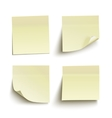 Set of yellow sticky notes vector image