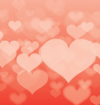 Abstract heart background in format vector image