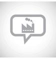 Factory grey message icon vector image