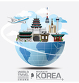Korea Landmark Global Travel And Journey vector image