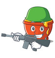 army honey character cartoon style vector image