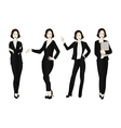 Business Woman Color Full Body vector image