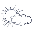 cloud single isolated icon vector image