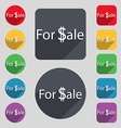 For sale sign icon Real estate selling Set of vector image