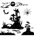 Halloween cartoon landscape vector image