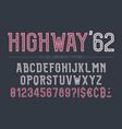 highway decorative bold font design alphabet vector image