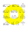 Logistics thin line icons set vector image