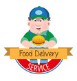 logo meal delivery vector image