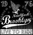 new york brooklyn fashion tee graphic design vector image