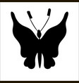 silhouette of cute cartoon butterfly vector image