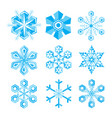 snowflakes collections set of flat design vector image