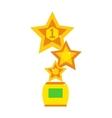Star award cup vector image