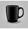 Template ceramic clean black mug vector image