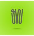W type line design W letter vector image