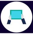 Hold Tablet computer symbol vector image