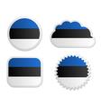 Estonia flag labels vector image