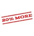 20 Percent More Watermark Stamp vector image