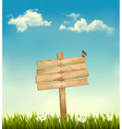 Background with a sign vector image vector image