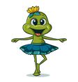 dancing frog vector image vector image