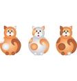 fat cats vector image