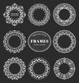 Unique hand drawn decorative frames vector image