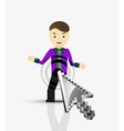 Arrow and man click on the person flat design vector image vector image