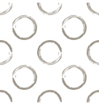 Grunge white coffee circles on white background vector image