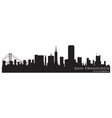 san francisco california skyline detailed silhouet vector image vector image