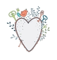 love frame Spring of cute vector image vector image